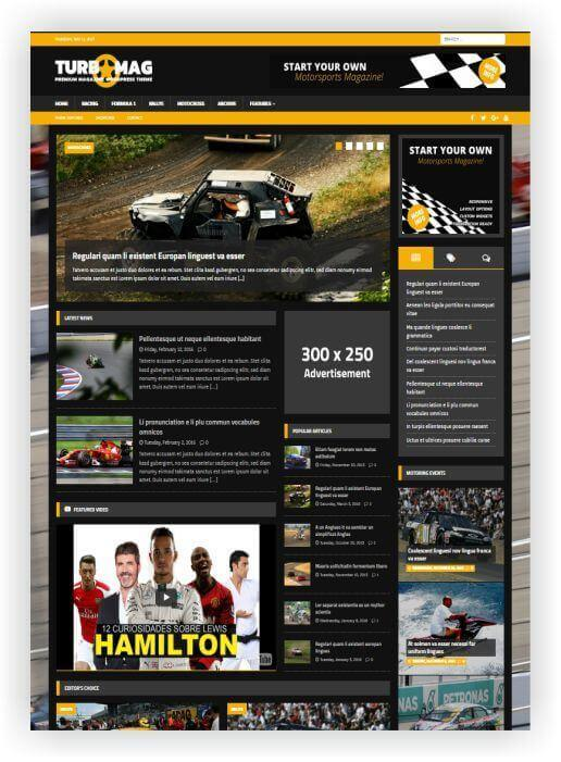 Wordpress Motorsport Magazin