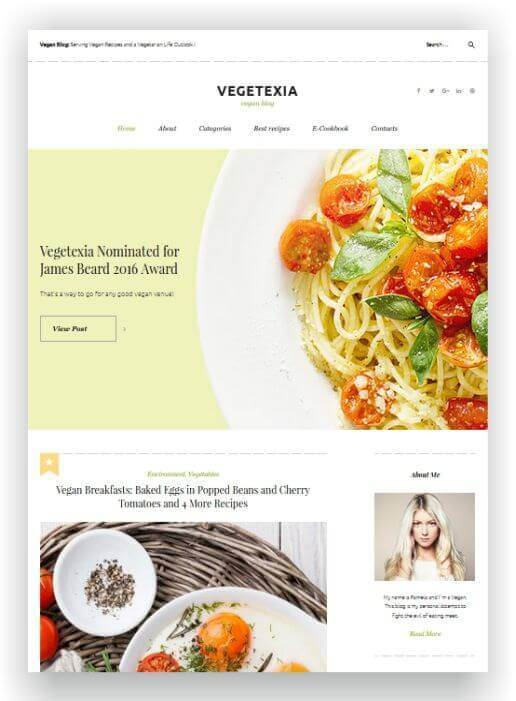Blog Theme for vegans