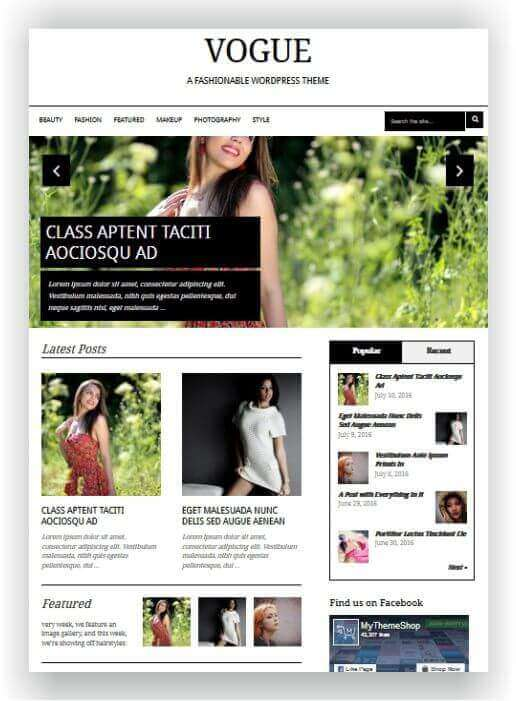 Wordpress Themes für Mode und Beauty