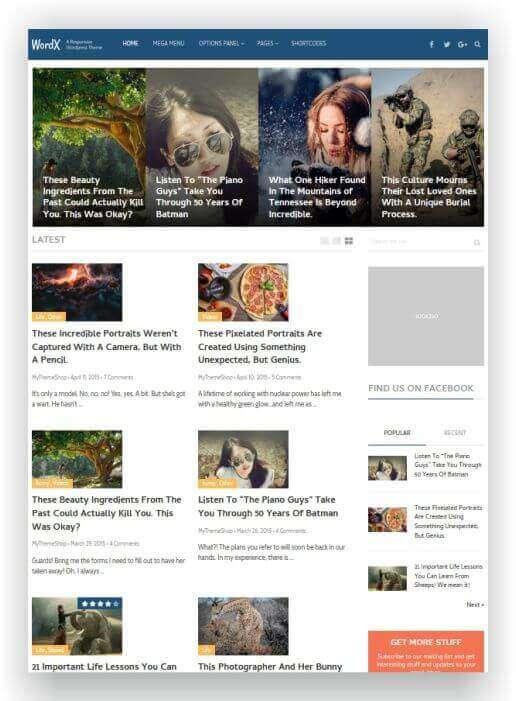 WordPress revista online