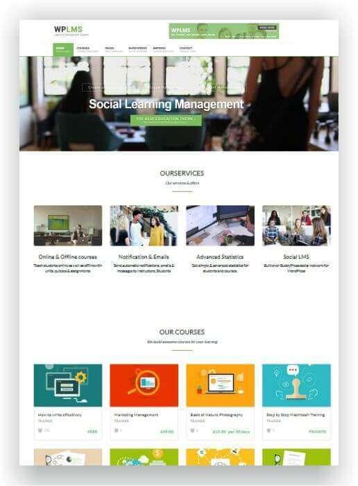 Wordpresstheme für Fortbildung