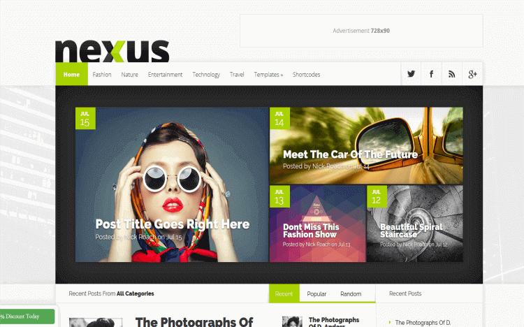 WordPress Blog Theme Nexus