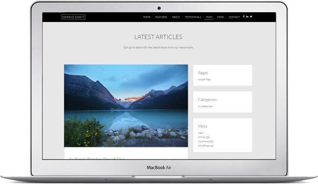 WordPress One Page Tema para empresas! - Listo para descargar aquí!
