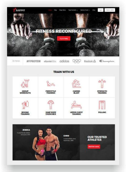 WordPress Fitness Thema