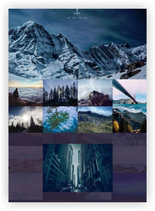WordPress theme for photo website