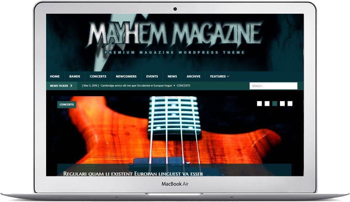 Create a music magazine