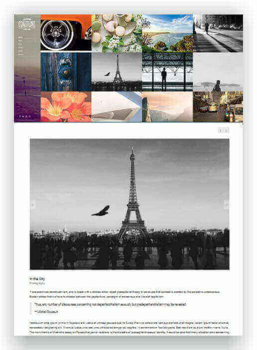 Wordpress theme for fotoblog