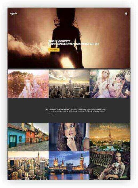 Webseite für Models