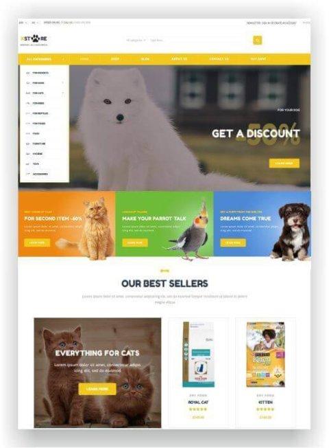 Loja de animais WooCommerce
