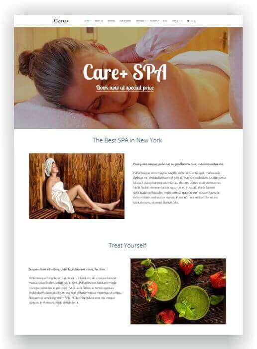 Wordpress Thema für Spa