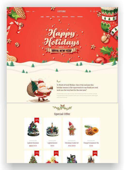 Wordpress Christmas Theme