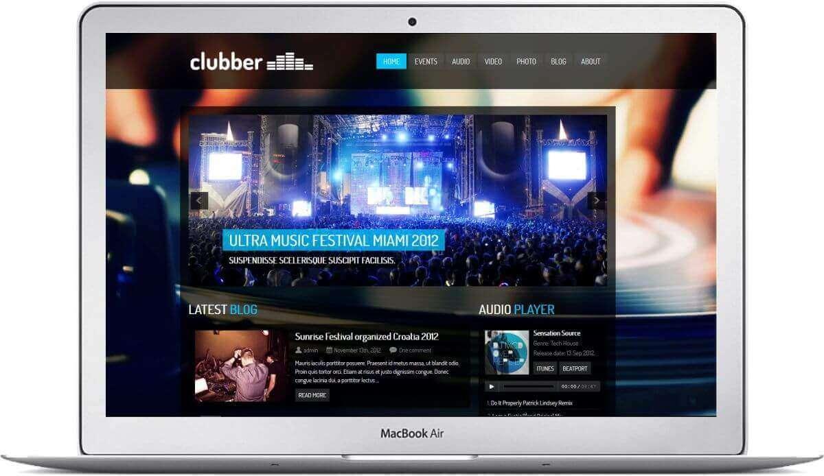Create a website for a club