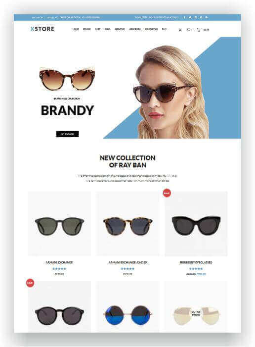 Woocommerce glasses shop