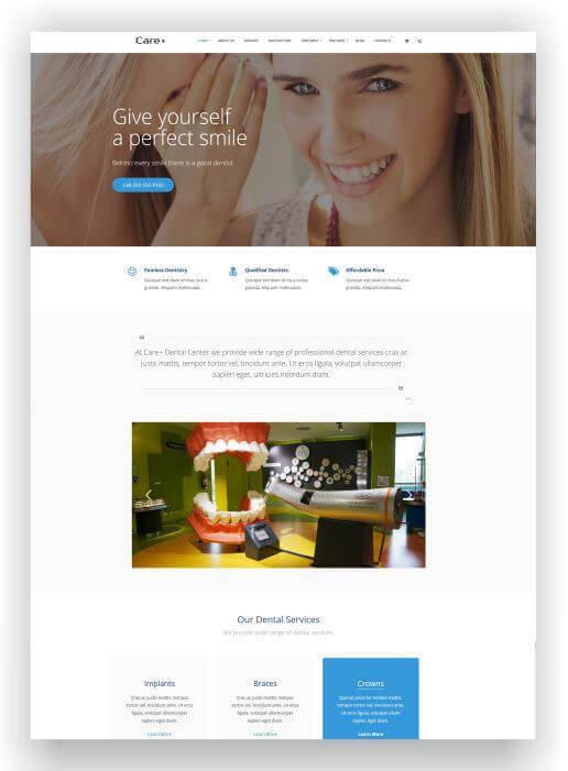 Wordpress Thema für Zahnarzt