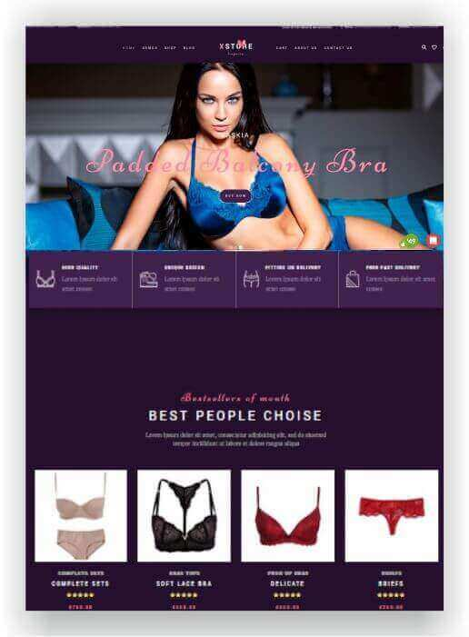 WooCommerce Lingerie Shop