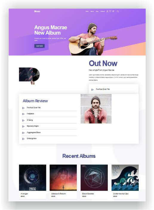 Gratis WordPress Musik Blog