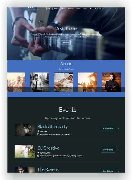 Music Magazin WordPress