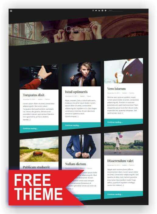 Gratis WordPress Portfolio Thema