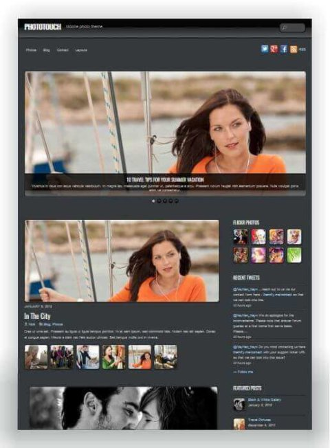 Fotowebseite für Smartphones