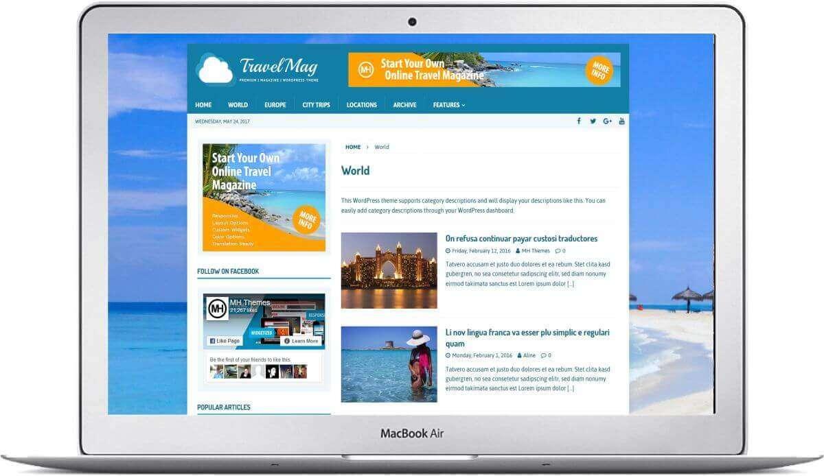WordPress Travelblog Theme
