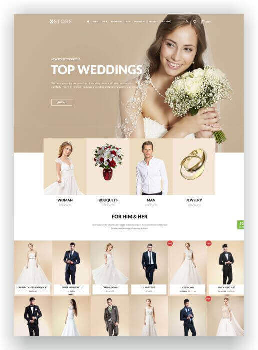Woocommerce Wedding Shop