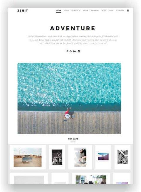 Fotografen Webseite