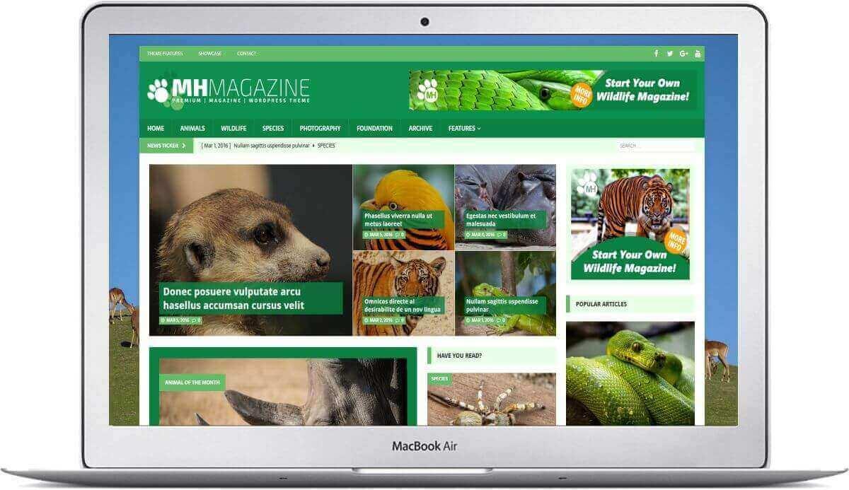 magazine for animals with wordpress