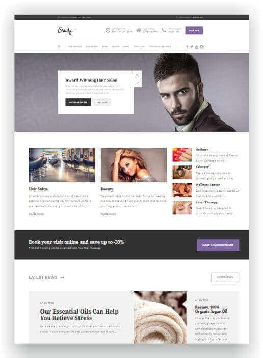 WordPress para cabeleireiro
