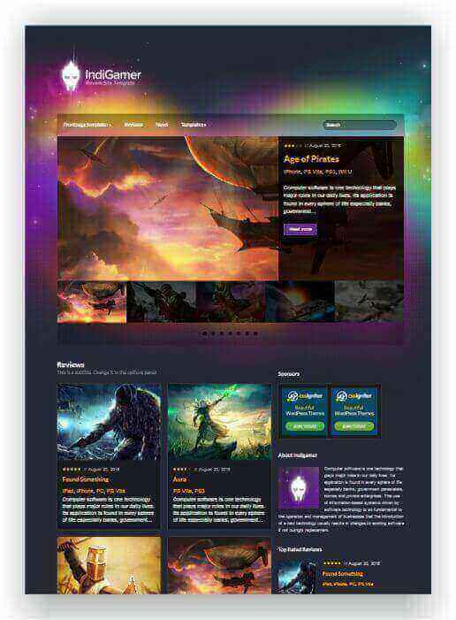 Wordpress Game Magazin
