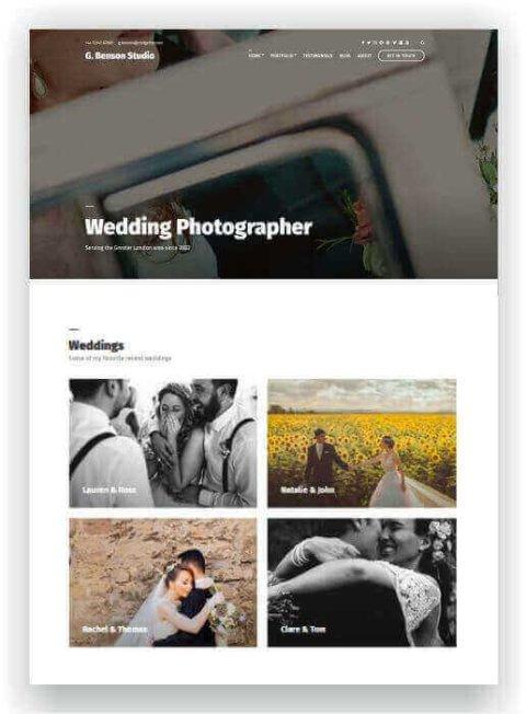 WordPress für Hochzeitsfotograf