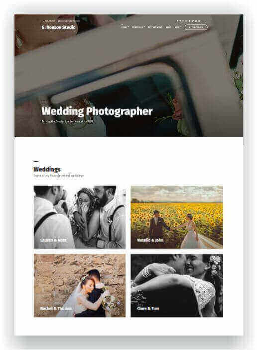 WordPress for wedding photographer