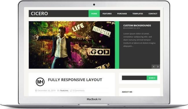 cicero wordpress theme