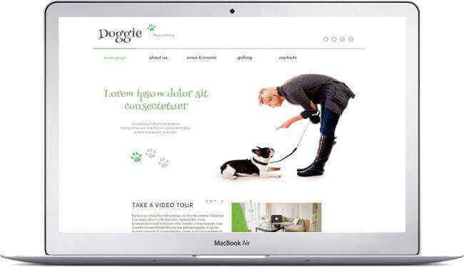 WordPress escuela para perros tema - Clic aquí para descargar!