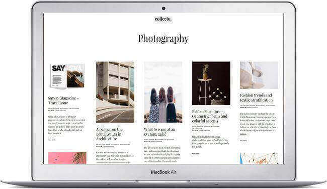WordPress Blog Portfolio Thema Collecto