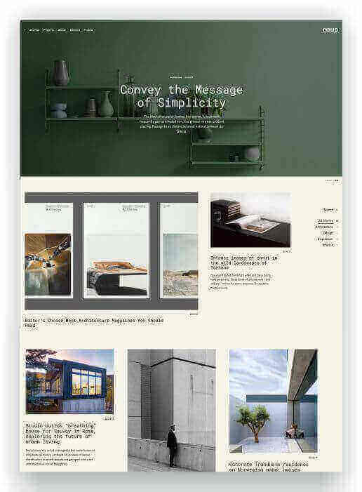 Portfolio WordPress Thema Coup