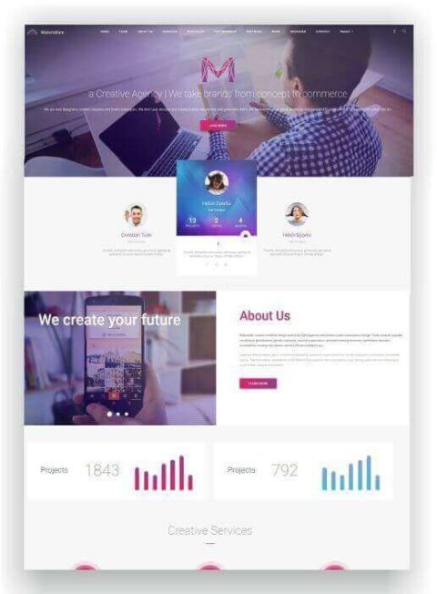 WordPress Landing Page Thema