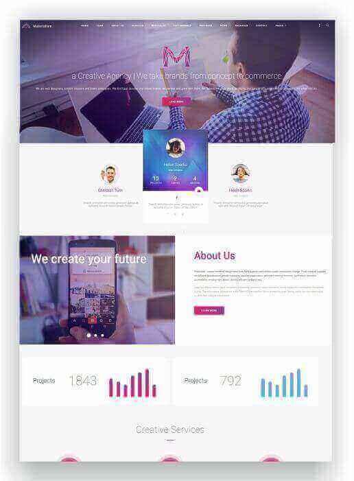 WordPress Landing Page Tema