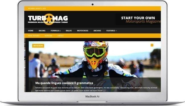 WordPress Motorsport Magazine Theme