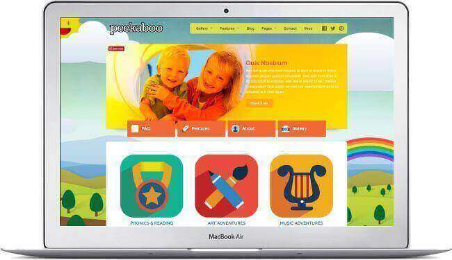 WordPress para jardin de infantes - peekaboo - descarga aquí!