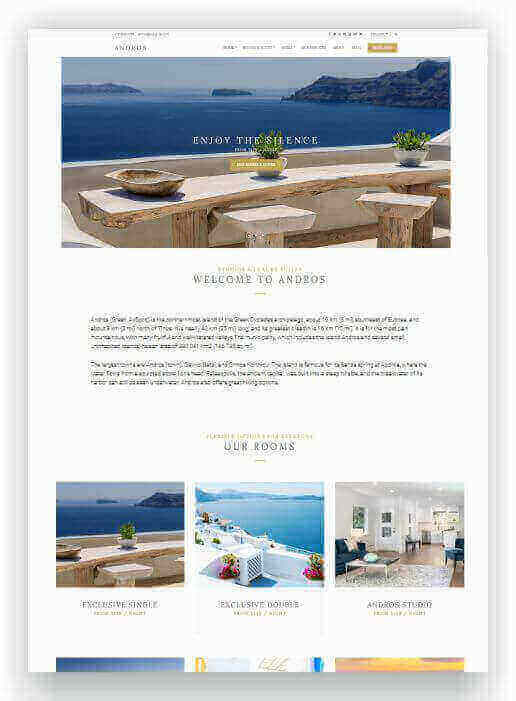 WordPress Hotel Thema Andros