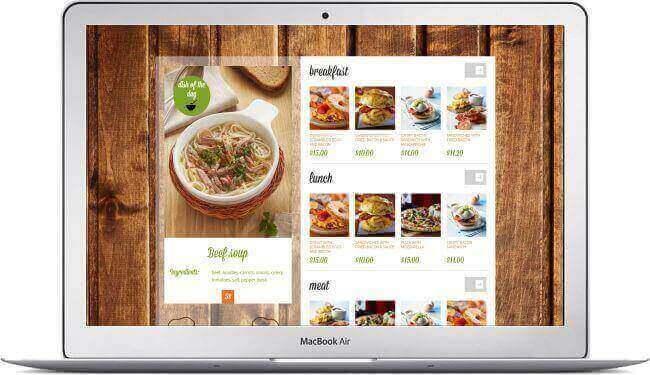 Restaurant Webseite Downtown