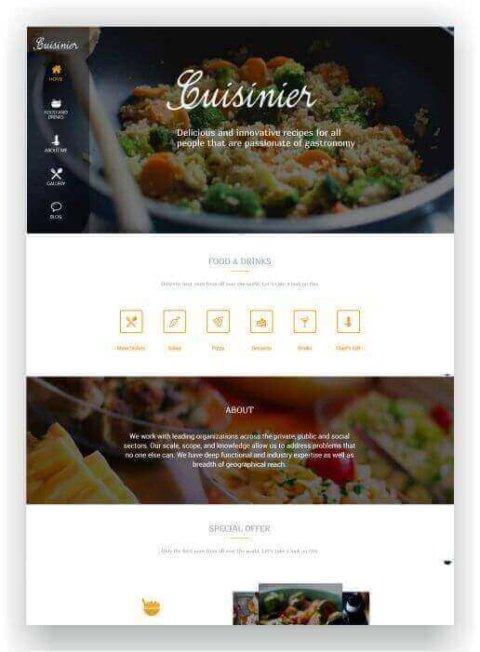WordPress Kochblog Thema