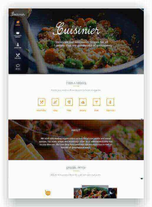 WordPress Blog de cozinha