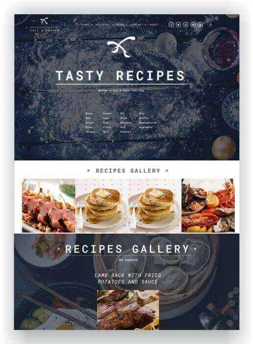 WordPress Recipe blog