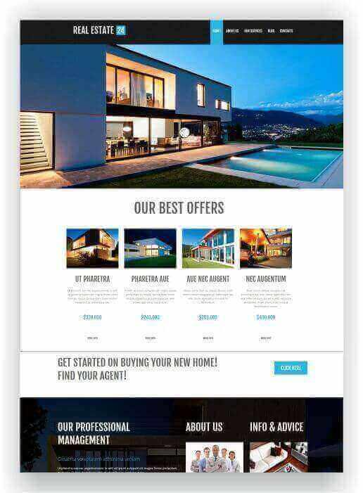 WordPress Immobilien Homepage
