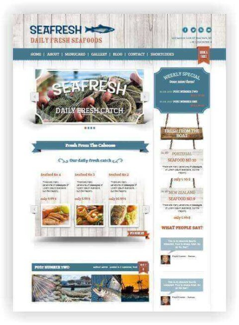 WordPress Seafood Restaurant Theme