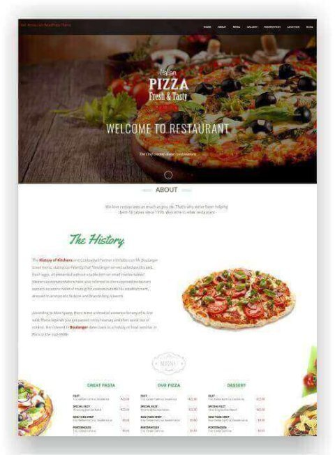 WordPress Restaurant Multitheme