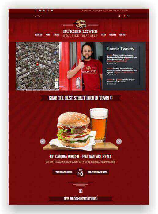 WordPress Food Truck Tema