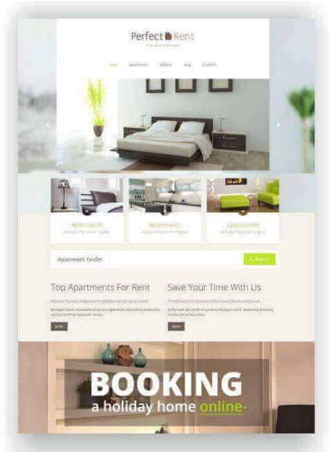 Wordpress renting theme