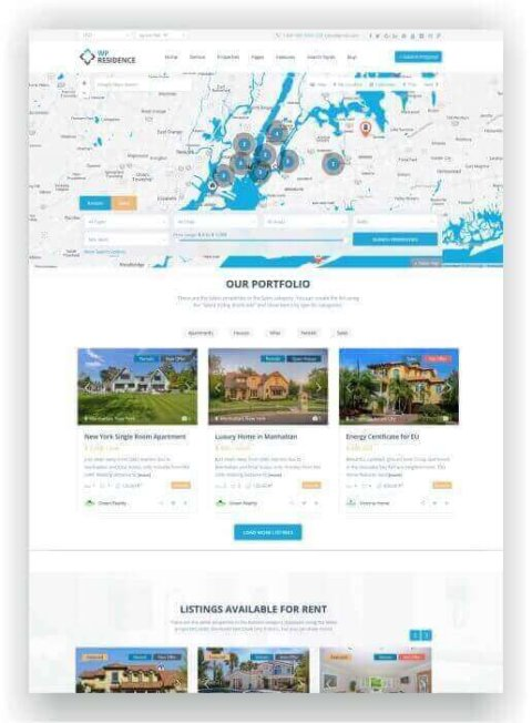 Immobilien Webseite mit WordPress